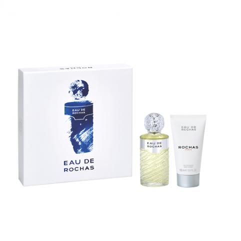 Set eau de rochas 100ml+body 150ml - ROCHAS. Perfumes Paris