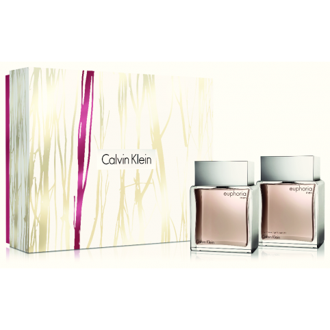 Set euphoria men edt 100ml+a/shave splash 100ml - CALVIN KLEIN. Perfumes Paris