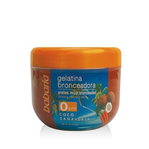 Gelatina Bronceaora de Coco SPF0 - BABARIA. Perfumes Paris