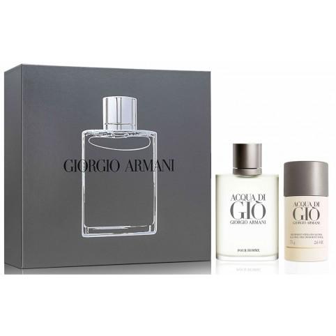 Set acqua di gio homme edt 100ml+deo stick 75 - ARMANI. Perfumes Paris