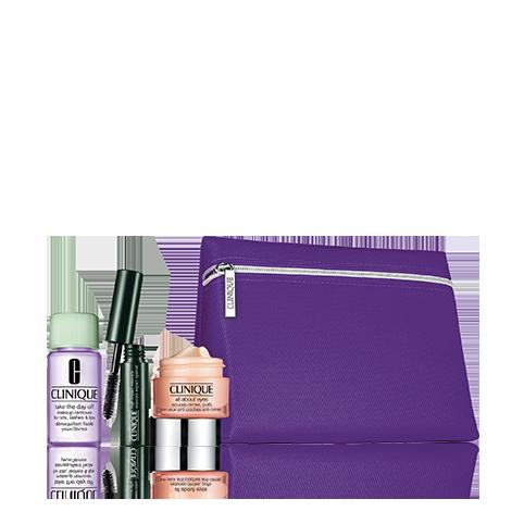 Set clinique allabout eyes gel 15ml+neceser+2 minitallas - CLINIQUE. Perfumes Paris