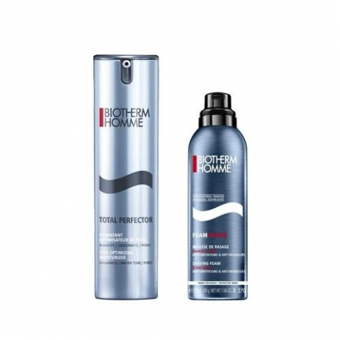 Set biotherm homme total perfector 50ml duo kit+espuma 50ml - BIOTHERM. Perfumes Paris