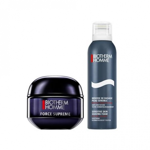 Set biotherm homme force supreme 50ml duo kit+espuma 50ml - BIOTHERM. Perfumes Paris