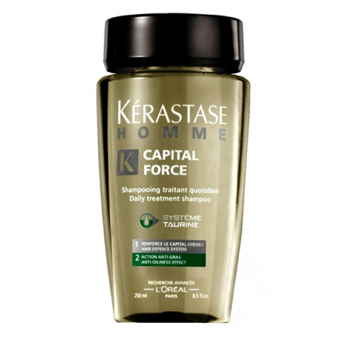 Kerastase champu hombre force capital anti-graso 250ml - KERASTASE. Perfumes Paris