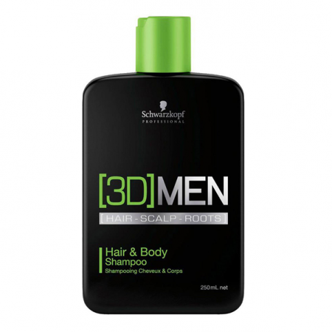 Schwarzkpoff 3d men hair & body shampoo 250ml - SCHWARZKOPF. Perfumes Paris