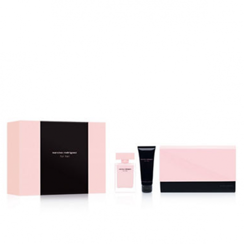 Set narciso for her edp 50ml+body 75ml+pouch - NARCISO RODRIGUEZ. Perfumes Paris