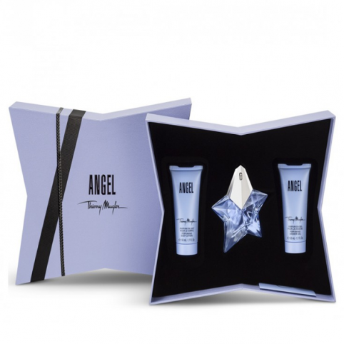 Set angel edp 25ml recargable+gel 50ml+body 50ml - MUGLER. Perfumes Paris