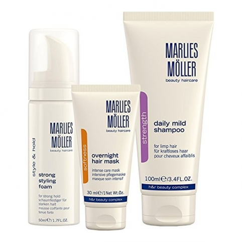 Set marlies moller champu diario 100ml+acond 100ml+styling 30ml - MARLIES MOLLER. Perfumes Paris