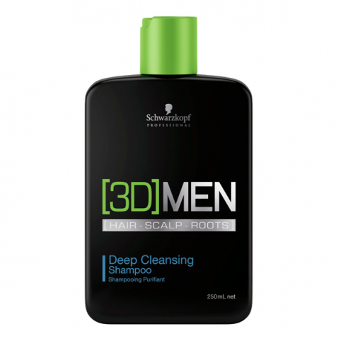 Schwarzkpoff 3d men deep cleansing shampoo 250ml - SCHWARZKOPF. Perfumes Paris