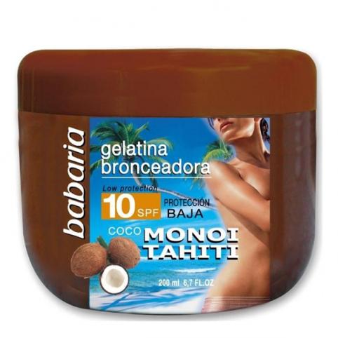 Babaria sol tarro gelatina spf10 coco monohi 200ml - BABARIA. Perfumes Paris