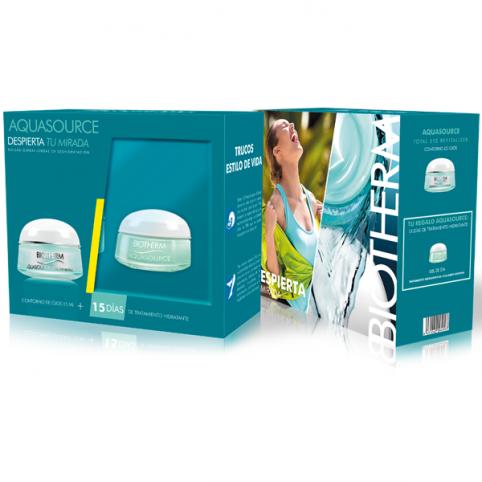 Set biotherm aquasource eye 15ml + gel crema pnm 15ml - BIOTHERM. Perfumes Paris