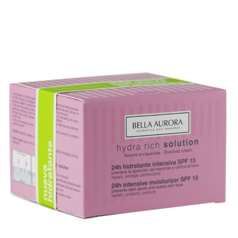 Bella aurora  hydra rich solution 24h intensiva 50ml - BELLA AURORA. Perfumes Paris