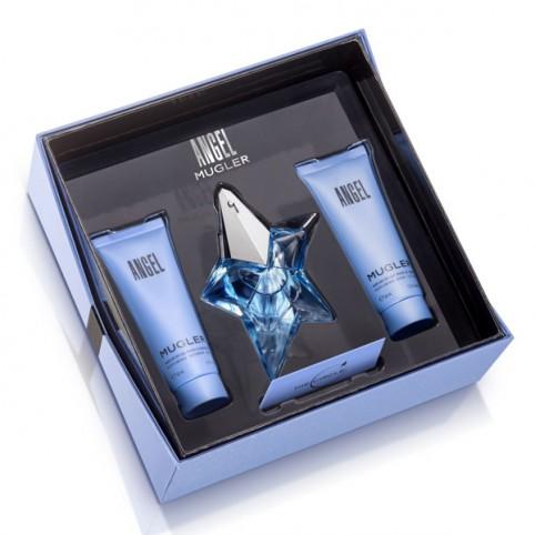 Set Angel EDP 25ml Recargable + Gel 50ml + Body 50ml - MUGLER. Perfumes Paris