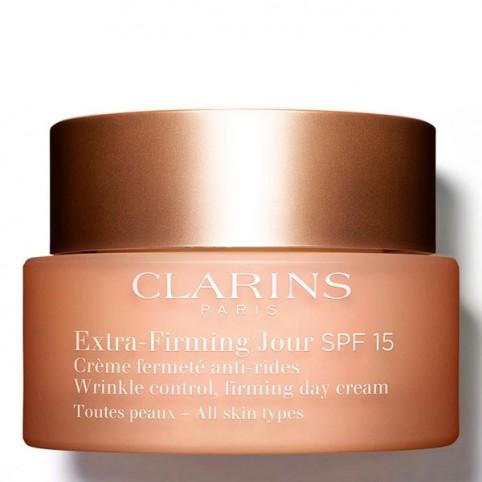 Clarins Extra-Firming Jour SPF 15 para todo tipo de pieles - CLARINS. Perfumes Paris
