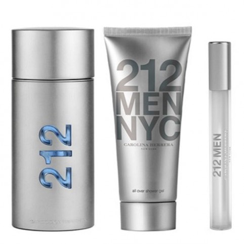Set 212 Men 100ml + After Shave 100ml + Miniatura - CAROLINA HERRERA. Perfumes Paris