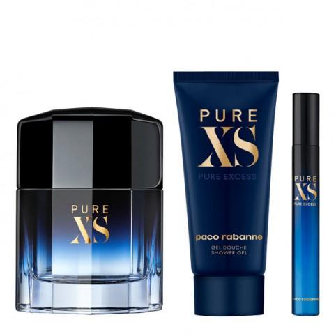Set Pure XS EDT + Gel + Miniatura - PACO RABANNE. Perfumes Paris