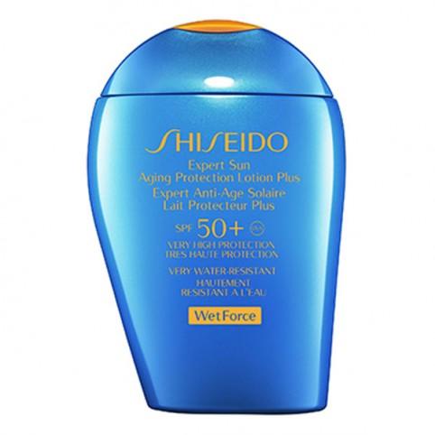 Shiseido Expert Sun Aging Protection Lotion Plus SPF50+ WETFORCE - SHISEIDO. Perfumes Paris