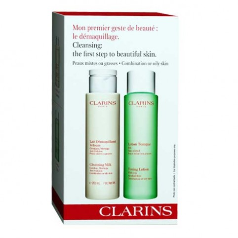 Set Clarins Duo Leche Desmaquillante + Tónico - CLARINS. Perfumes Paris