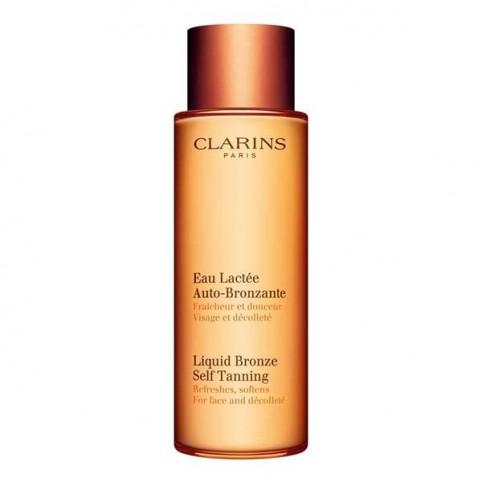 Clarins Leche Fluida Autobronceadora para Rostro y Escote - CLARINS. Perfumes Paris