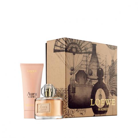 Set Aura EDP 80ml + Emulsión hidratante 75ml - LOEWE. Perfumes Paris