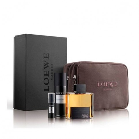 Estuche Solo Loewe Intense EDT 75ml + Espuma 75ml + Gel 5ml + Neceser Fuencarral - LOEWE. Perfumes Paris