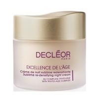 Decleor Excellence De l'Age Antiedad Global Nuit Cream 50ml - DECLEOR. Comprar al Mejor Precio y leer opiniones