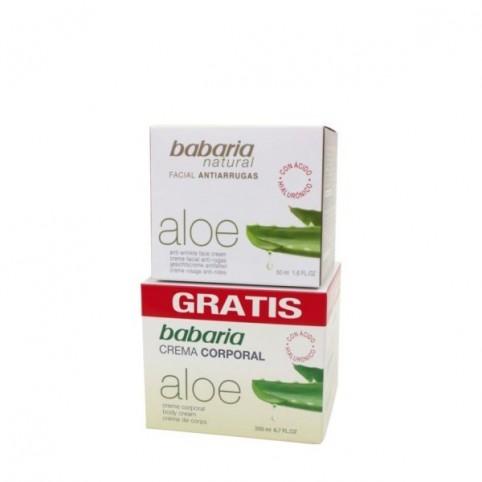 Babaria Aloe Crema Anti-arrugas 50ml + Crema Cuerpo 200ml - BABARIA. Perfumes Paris